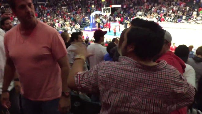 A brawl broke out during the Clippers-Suns game.