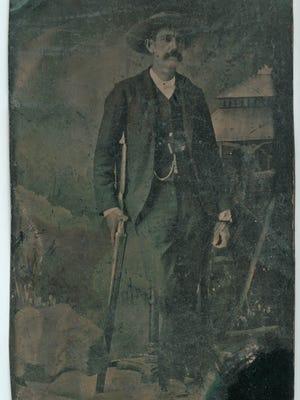 A tintype of sheriff Pat Garrett.