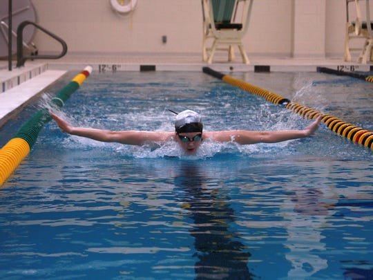 Senior Max Perrin from Climax-Scotts is swimming for Battle Creek Central High School for the MHSAA State Finals this weekend