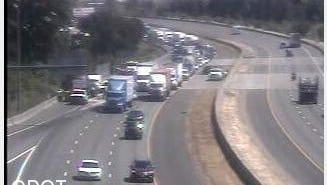 Crash on southbound Interstate 5.
