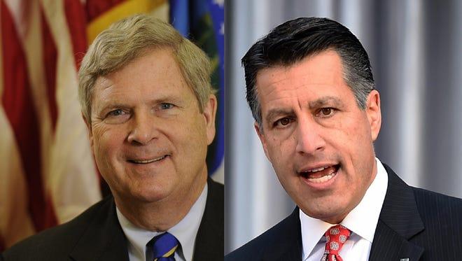 Agriculture Secretary Tom Vilsack, Nevada Governor Brian Sandoval