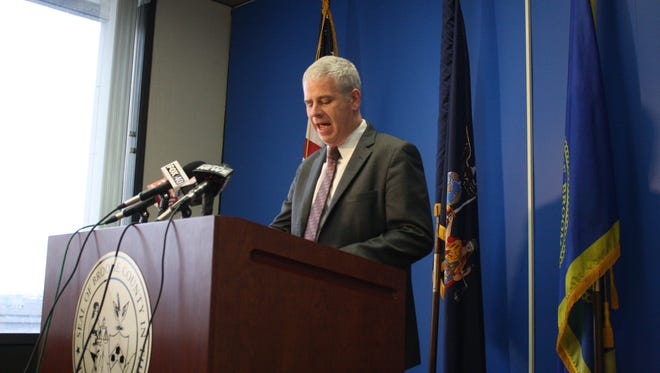 Broome County Executive Jason Garnar announces Broom County will withdraw from its contract with Aramark.