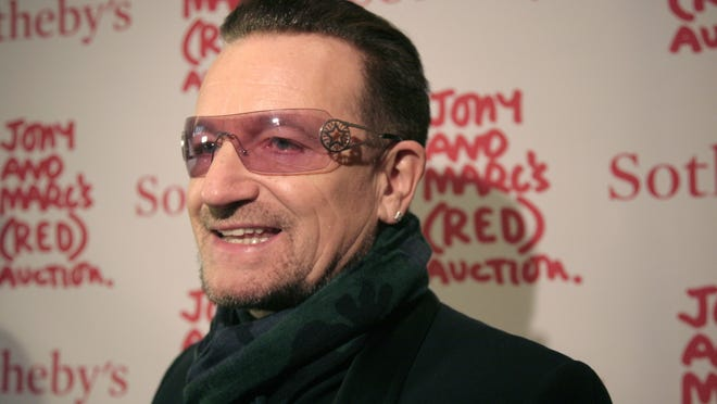 U2 frontman Bono says his ever-present sunglasses are not a rock-star affectation — he has suffered from glaucoma for 20 years.