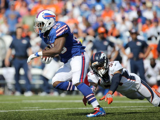 Bills running back LeSean McCoy looks for running room