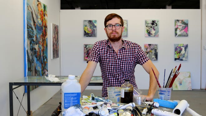 Jimmy Baker, pictured in his studio, is part of an exclusive exhibition at Crystal Bridges Museum of American Art.