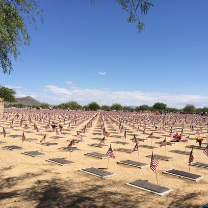 Flags fluttered from every grave on Memorial Day