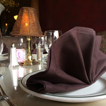 A place setting at Vera Mae's Bistro