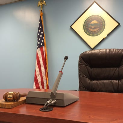 The president's seat in the Delaware County commissioners'