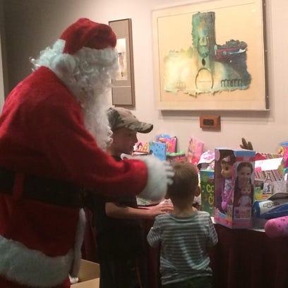 Santa at the Ministry Saint Joseph's Children's Hospital.