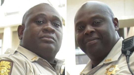 Fulton County deputies Anthony White, left, and Kenny Ingram died in a crash on I-20 near Grovetown Tuesday.