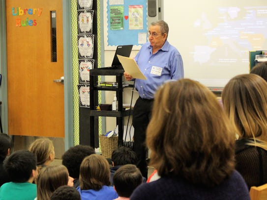 Fifth-graders at Central School hear from Holocaust