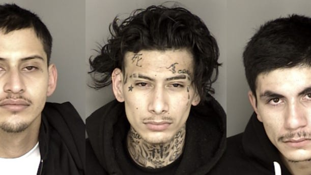Daniel Contreras, 22, Jesus Nieto, 23, and Miguel Nieto, 19 were booked into Monterey County Jail on suspicion of burglary, conspiracy and resisting arrest.