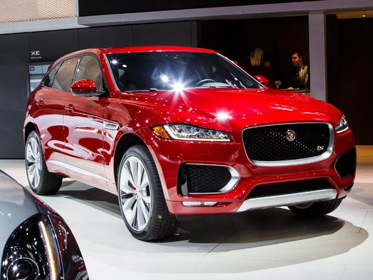 The 2017 Jaguar F-PACE crossover.
