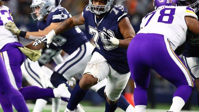 Dallas Cowboys defensive tackle Michael Bennett played for the Seattle Seahawks and New England Patriots during his career.