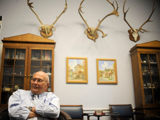 Dingell talks to The Detroit News in his office June