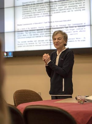 Dr. Mary Johnson, a senior historian at Facing History and Ourselves, led the conference