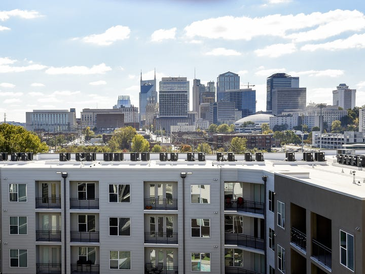 Germantown: A view of the Nashville skyline is what