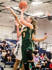 York Catholic's Abby Pilkey (3), goes up for the shot,