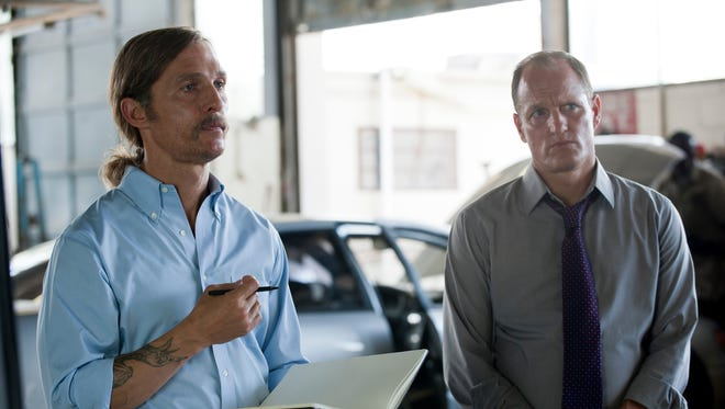 Matthew McConaughey and Woody Harrelson in a scene from HBO's 'True Detective.'