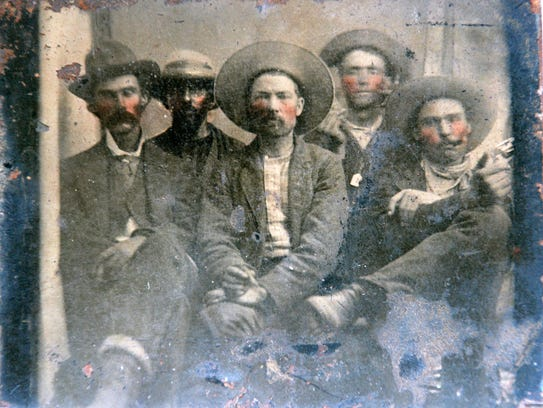 This tintype, believed to be from the early 1880s,