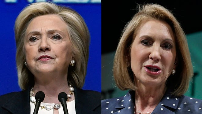 Presidential candidates Hillary Clinton and Carly Fiorina.