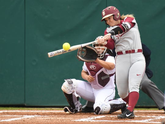 FSU's Jessie Warren set a career record for home runs at Florida State with 83.