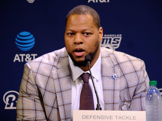New Los Angeles Rams defensive tackle Ndamukong Suh