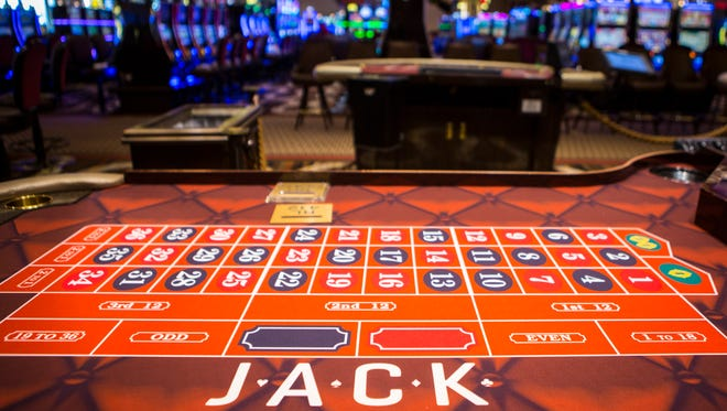 June 7, 2016: New signage for the Jack Casino has already been changed in the card tables, replacing the Horshoe Casino signage.