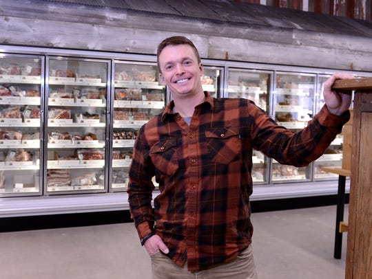 Matt Lutsey, pictured in front of the meat case at