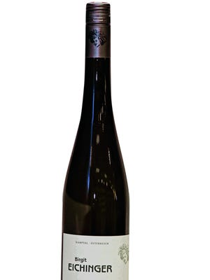 """A bottle of Birgit Eichinger """"Vom Berg"""" Riesling 2013 for Mixed Case at Vine & Co. in Bedford Hills."""