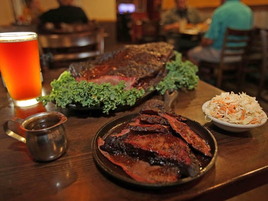 Brisket is served at Fink's BBQ and Cheesesteak Roadhouse in Suffern, N.Y.