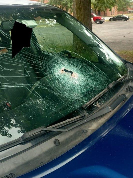 SUV damage