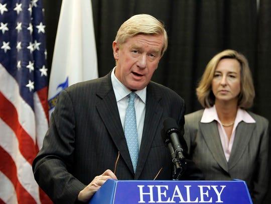 This Nov. 2, 2006, photo, former Massachusetts Republican