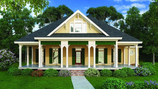 A wraparound porch delivers an inviting and classic feeling to the exterior of this home.