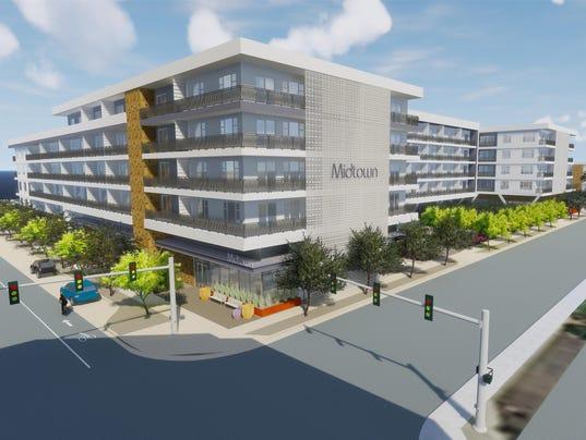 Rendering of Midtown apartments