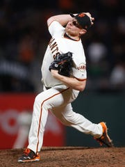 San Francisco Giants relief pitcher Mark Melancon went
