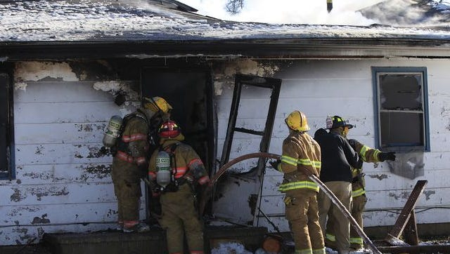 Firefighters battled a house fire near Albany Tuesday morning.