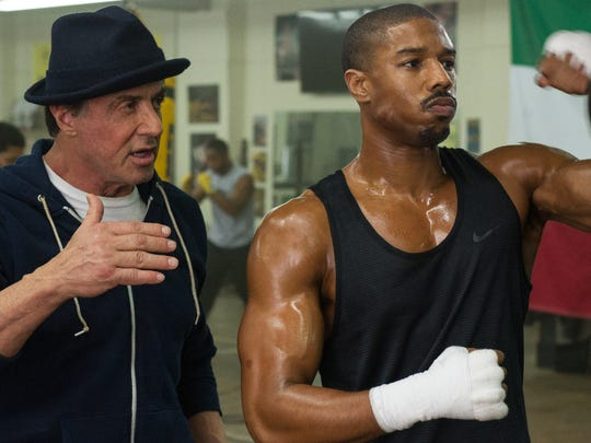 """Sylvester Stallone and Michael B. Jordan in """"Creed."""""""