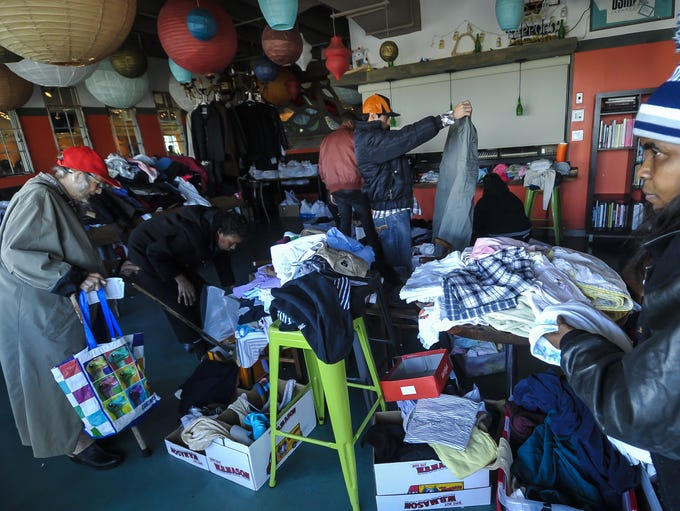Longosta Lounge in Asbury provided clothing and a Thanksgiving