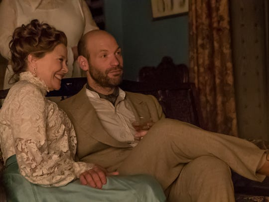 Annette Bening as Irina and Corey Stoll as Boris in