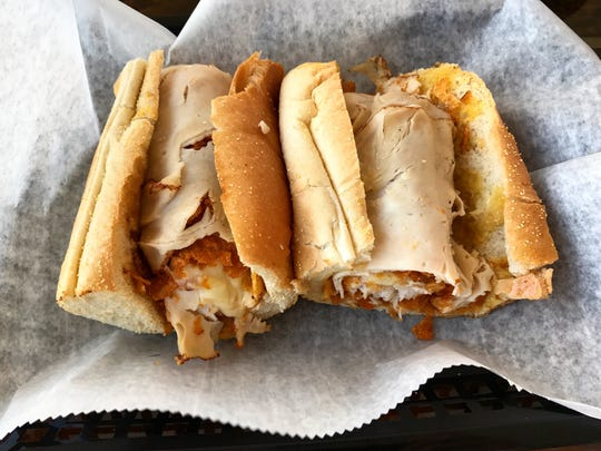 The Twang hoagie features honey dijon, chicken breast, onion, white American cheese and Mesquite BBQ chip crumbles.