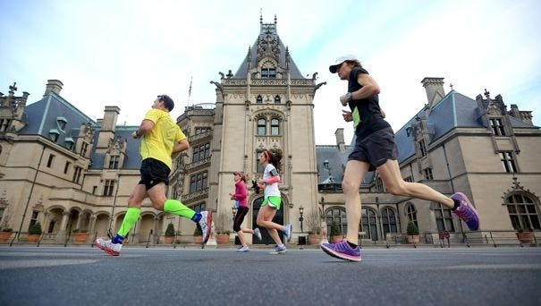 The recent marathon on the Biltmore Estate was put on by  another company, not the estate.