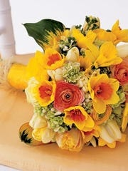 Daffodils in Yellow Wedding Bouquet