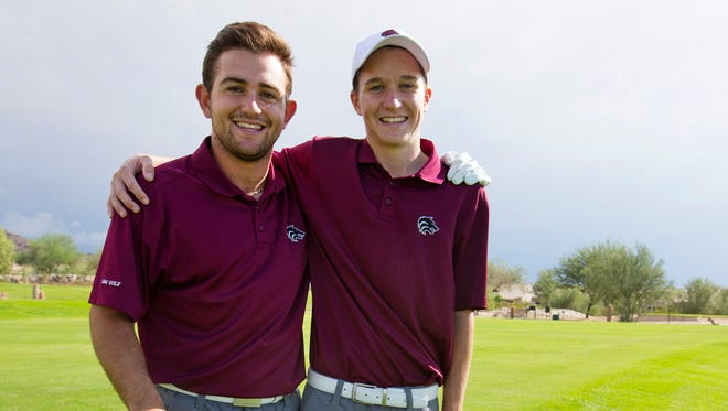 Scottsdale Desert Mountain High school seniors David Ricciardelli, left, and Matt McCarty, look forward to competing in the state golf championship.