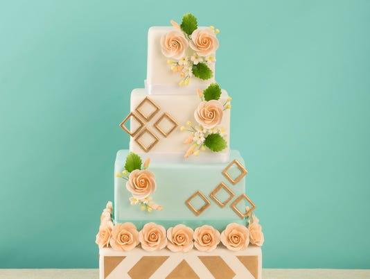 Prism wedding cakes: Keren's Cakes
