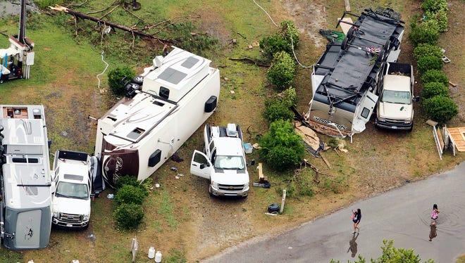 A campground in Northampton County, Va., was damaged this week after a tornado hit the area, killing two people.