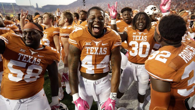 The Texas Longhorns didn't have much to celebrate at season's end, but hope to regroup with Tom Herman taking over the program.
