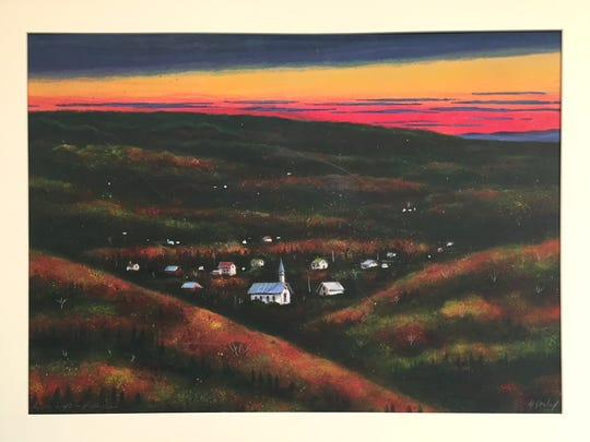 Bill Dunlalp is among the artists represented at Tuesday's WellsFest Art Night.