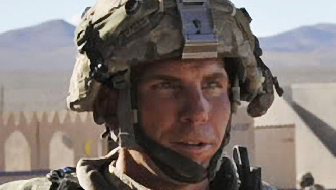 Staff Sgt. Robert Bales participates in an exercise at the National Training Center at Fort Irwin, Calif., on Aug. 23, 2011.