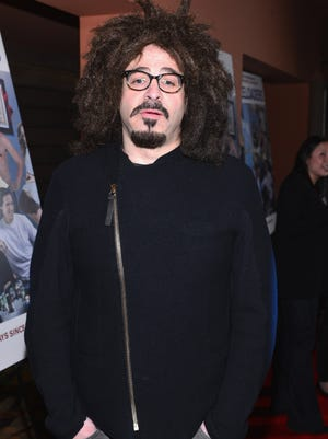 """Singer Adam Duritz arrives to the premiere of Salient Media's """"Freeloaders"""" at Sundance Cinema on January 7, 2013 in Los Angeles, California."""